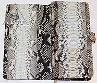 Вместительный кошелек из натуральной кожи питона, фото 1