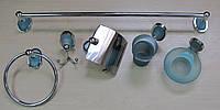Набор аксессуаров для ванной комнаты голубое стекло