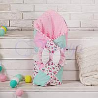 Конверт-одеяло на выписку лоскутный, Прованс