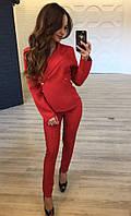 Костюм женский пиджак и брюки в расцветках 16002