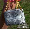 Маленькая дамская сумочка из кожи питона