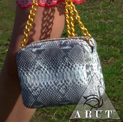 c9a7c8ee9834 Маленькая дамская сумочка из кожи питона - ARUT Кожаная обувь и галантерея  в Николаеве