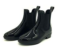 Резиновые сапоги для девочек черные 30-34 размер
