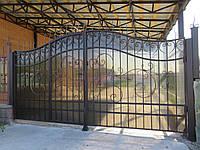 """Кованые ворота со встроенной калиткой """" Элегия"""""""