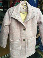 Детское полу-пальто на синтепоне 8-12лет букле разных цветов