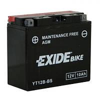 EXIDE YT12B-BS Мотоаккумулятор 10 А/ч, 160 А, (+/-), 150х70х130 мм