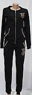 Женский прогулочный, спортивный костюм на молнии, хлопок, черный, Victorias Secret, Турция