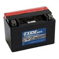 Мото аккумулятор  EXIDE YTX9-BS 8 А/ч, 120 А, (+/-), 150х87х105 мм