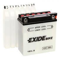 EXIDE YB5L-B Мото аккумулятор YBR125 5 А/ч, 65 А, (-/+), 120х60х130 мм