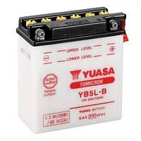 Аккумулятор YUASA YB5L-B  5 А/ч, 60 А, (-/+), 120x60x130 мм