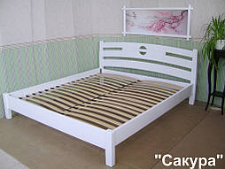 """Деревянная белая кровать """"Сакура"""". 2"""