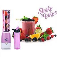Блендер для коктейлей с бутылкой Shake'n Take (Шейк ен Тейк) Версия 3 Салатовый