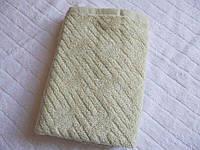 Полотенце пл 460 махровое жаккардовое плотное Туркменистан 50х100 светло-серое