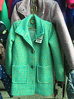 Полу-пальто на синтепоне детское 8-12лет ткань букле в ассортименте