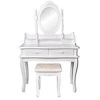 Туалетный косметический столик с зеркалом Аля Мирка, фото 1