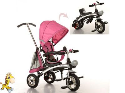 Велосипед M 3212A-4 1шттри кол.резина,трансформербеговел,поворот,быстросъем.колеса,розовый - Магазин Жирафка в Запорожье