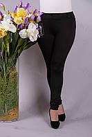 Брюки лосины женские дайвинг черные р48-54
