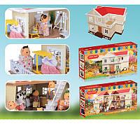 Детский игрушечный Домик 1512, FS, мебель, свет, на бат-ке(таб), в кор-ке, 36,5-75-13,5см