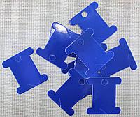Шпуля картонная.Цвет - фиолетово-синий