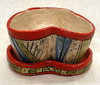 Керамический горшок для цветов ручная работа и роспись