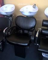 Мойка парикмахерская с креслом ZD-61 - железная станина и с креслом для мойки KLIO без сантехники, фото 1