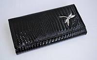 Кошелек Balisa 3 женский кожаный черный с монетницей внутри 18 см * 9,5 см