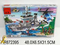 Конструктор военный корабль, Brick 614 деталей