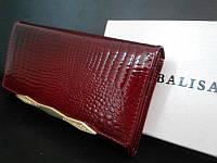 Кошелек Balisa 4 женский кожаный красный с монетницей на молнии снаружи 17 см * 9 см