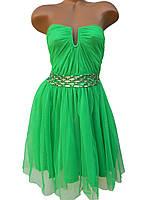 Нарядные женские платья из фатина (разные цвета 44,46)