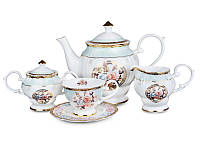 """Фарфоровый чайный набор на 6 персон """"Цветочный сад"""" 200 мл Lefard 586-322"""