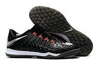 Футбольные сороконожки Nike HypervenomX Proximo II TF Black/Hyper Crimson