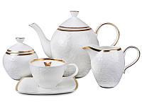 """Фарфоровый чайный набор на 6 персон """"Бабочка"""" 200 мл Lefard 586-324, фото 1"""