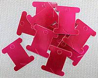 Шпуля картонная.Цвет - бордовый