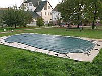 Батутное накрытие Loop-Loc для бассейна Торренс размером 10,10 х 4,30 м. Зимнее накрытие