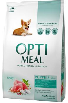 Корм для щенков всех пород с индейкой Optimeal Puppy All Breed