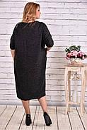 Женское просторное платье из ангоры 0616 цвет черный / размер 42-74 / баталл , фото 4