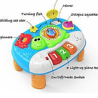 Детский развивающий Игровой центр 0852-NL, 31см, на ножках, муз, свет, зв, трещотка, погрем, пищал, на бат.