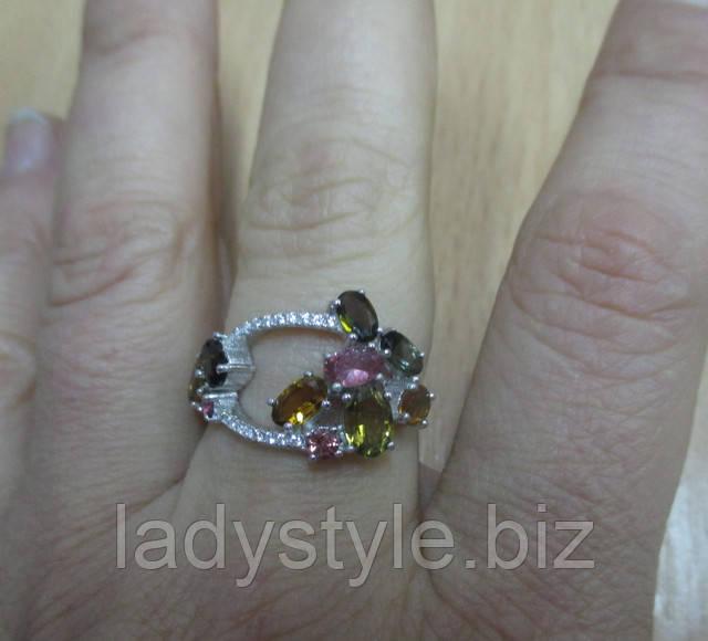 купить кольцо перстень с турмалином украшения сапфир купить