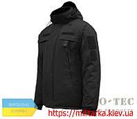 Куртка зимняя Полиция черная на флисе