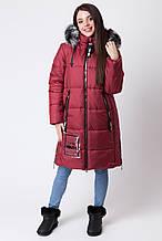 Зимняя куртка для девочки ZKD-3 марсала