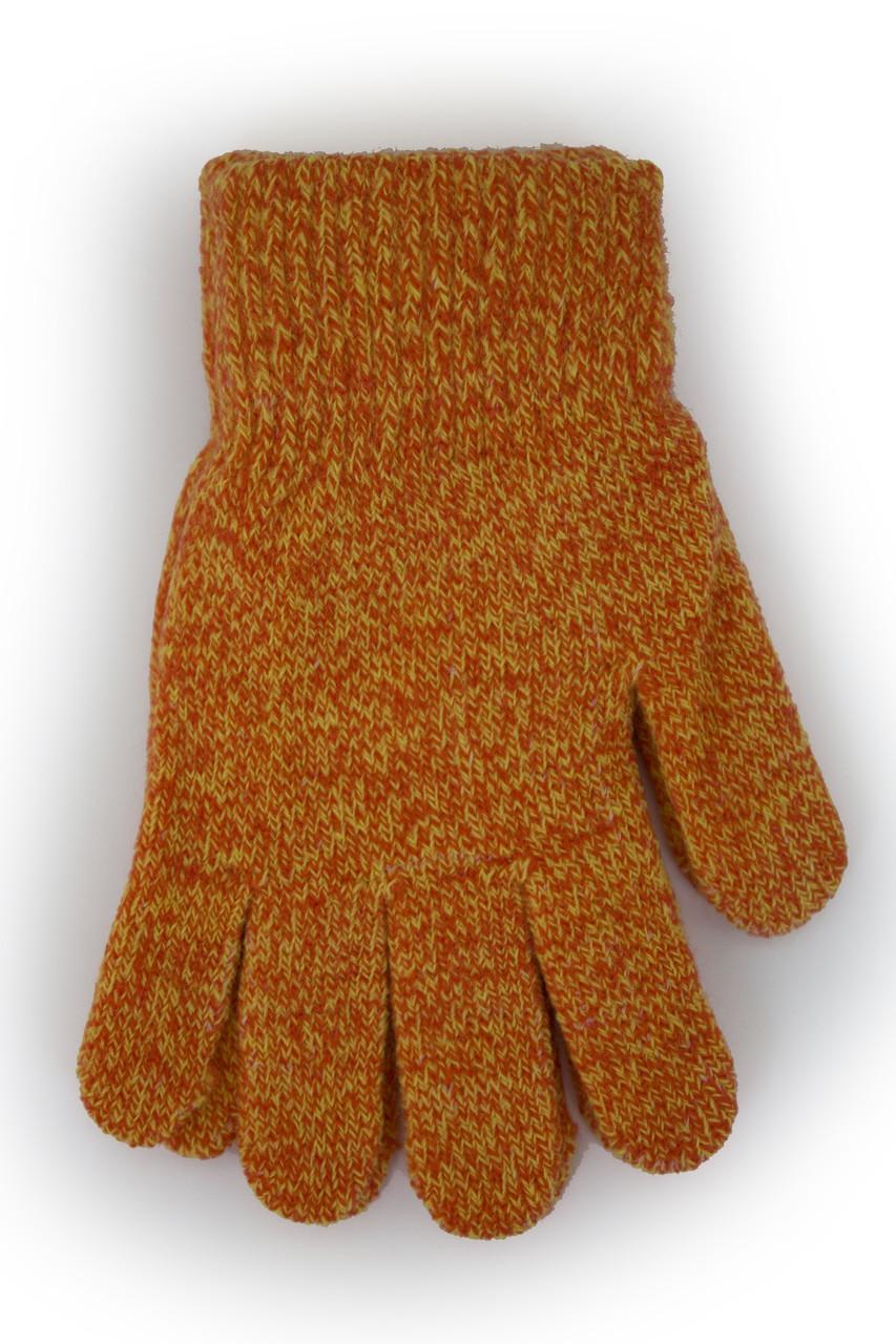 Детские вязаные перчатки  5002М-6 терракотовые