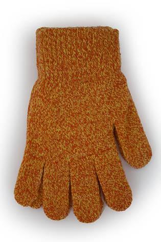 Детские вязаные перчатки  5002М-6 терракотовые, фото 2