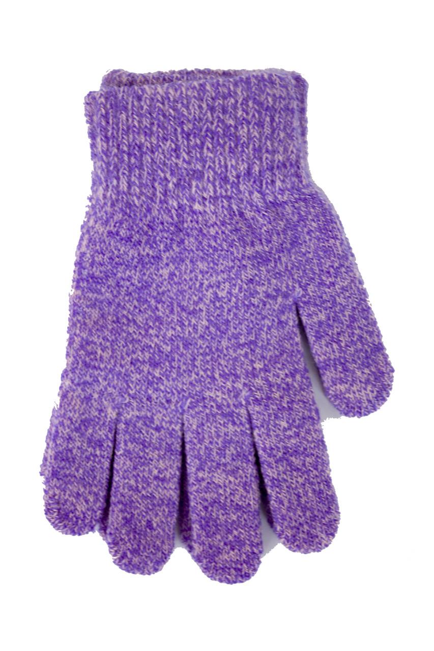 Детские вязаные перчатки 5002М-7 фиолетовый