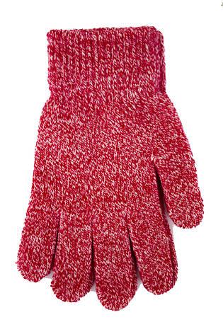 Детские вязаные перчати  5002М-8 вишневый, фото 2