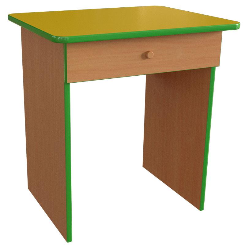 Стол детский одноместный с ящиком. Столы с ящиками для детских садов