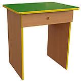 Стол детский одноместный с ящиком. Столы с ящиками для детских садов, фото 3