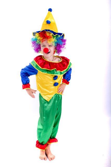 Детский маскарадный костюм веселого Клоуна