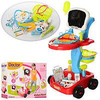Детский набор Доктора 660-43-44 тележка  41-60-32см,инструменты