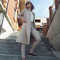 Пальто средней длины с запахом , фото 1