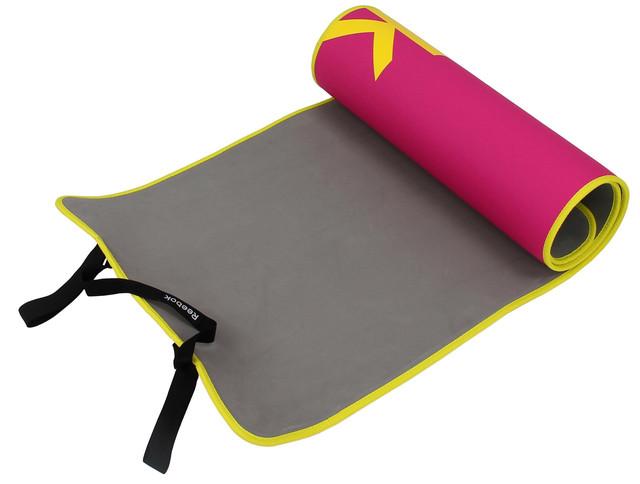 Коврик для фитнеса, йоги Reebok розовый 6мм
